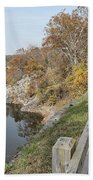 C And O Canal Above And Potomac River Below Hand Towel