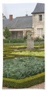 Cabbage Garden  Chateau Villandry Bath Towel
