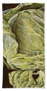 Cabbage Still Life Bath Towel