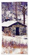 Cabin In The Snow Bath Towel