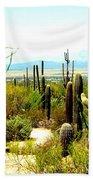 Cacti Garden Bath Towel