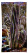 Cacti Lights Bath Towel
