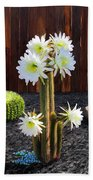 Cactus Blooms Bath Towel