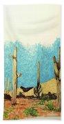 Cactus With A 'tude Bath Towel