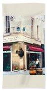 Cafe Le Barometre In Paris Bath Towel