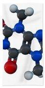 Caffeine Molecular Model Bath Towel