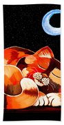 Calico In The Moonlight Hand Towel