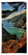 California Coastline Bath Towel