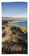 California Coastline From Point Dume Bath Towel