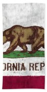California Flag Bath Towel