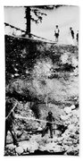 California: Mining, 1850s Bath Towel