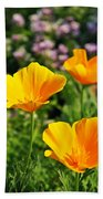 California Poppies In October Bath Towel