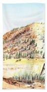 Californian Landscape Saint John Ranch Bald Mountain View Shasta County Bath Towel