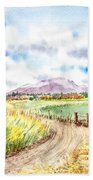 Californian Landscape Saint Johns Ranch Of Mountain Shasta County Bath Towel