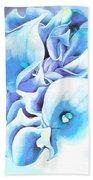 Calla Lilly So Soft Lilac And Blue Bath Towel