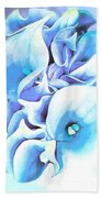 Calla Lilly So Soft Lilac And Blue Bath Towel