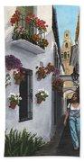 Calleje De Las Flores Cordoba Spain Bath Towel