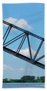 Caloosahatchee Train Draw Bridge Bath Towel