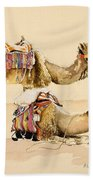 Camels From Petra Hand Towel
