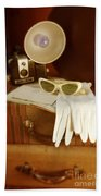 Camera Sunglasses On Luggage Bath Towel