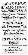 Camerarius Title Page, 1694 Bath Towel