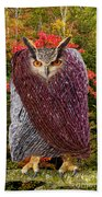 Camouflaged Owl Bath Towel