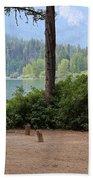 Camp By The Lake Bath Towel