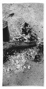 Camp Fire Fall Cattle Round-up Tohono O'odham Indian Reservation Near Sells Arizona 1969 Bath Towel