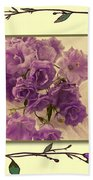 Campanula Framed With Pressed Petals Bath Towel