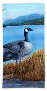 Canada Geese - Lake Lure Bath Towel