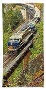 Canadan Railroad Above The Cheakamus River Bath Towel