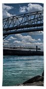 Canadian Tranfer Under Blue Water Bridges Bath Towel