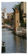 Canal In Venice Bath Towel