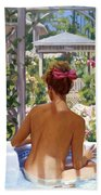Candace Being Candlish On Canvas Bath Towel