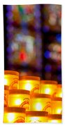 Candles In Notre Dame Bath Towel