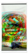 Candy Jar - Use Red-cyan Filtered 3d Glasses Bath Towel
