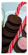 Candycane  Cookies - Milk - Cookies Bath Towel