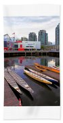 Canoe Club And Telus World Of Science In Vancouver Bath Towel