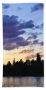 Canoeing At Sunset Hand Towel