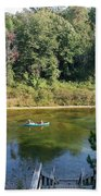 Canoeing Michigan's Au Sable Bath Towel