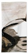 Canvasback Couple Hand Towel