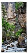 Canyon Serenity - Crazy Woman Creek - Crazy Woman Canyon - Johnson County - Wyoming Bath Towel