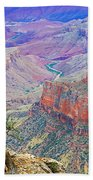 Canyon View From Walhalla Overlook On North Rim Of Grand Canyon-arizona  Bath Towel