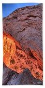 Canyonlands Orange Band Bath Towel