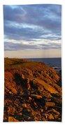 Cape Anguille Lighthouse Bath Towel
