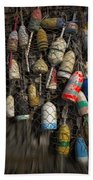 Cape Neddick Lobster Buoys Bath Towel