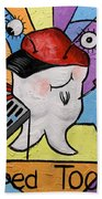 Caped Tooth Hand Towel by Anthony Falbo