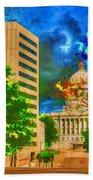 Capital - Jefferson City Missouri - Painting Bath Towel