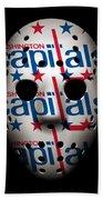 Capitals Goalie Mask Bath Towel