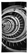 Time Tunnel Spiral Staircase In Sao Paulo Brazil Bath Towel